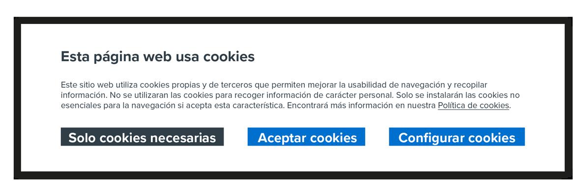 Com ha de ser ara el banner de consentiment segons la llei de cookies 2021
