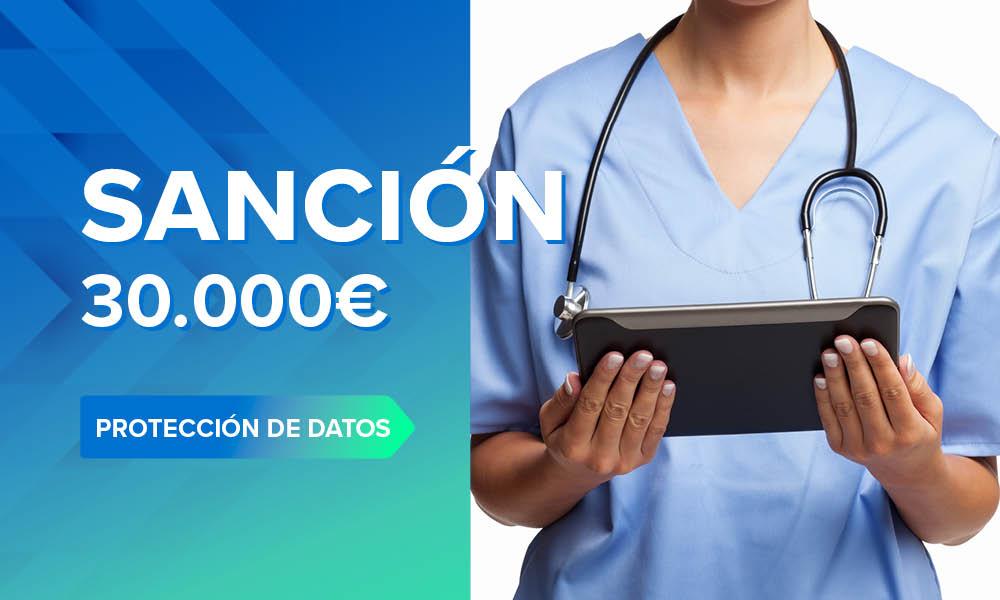 Sanció de 30.000 € per compartir la història clínica d'un pacient amb la seva Mútua laboral
